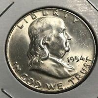 1954-D FRANKLIN SILVER HALF DOLLAR HIGH GRADE COIN