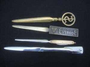 Letter Opener Lot Everede Tools Brass $ Dollar Towle Stainless Empire Fold Knife