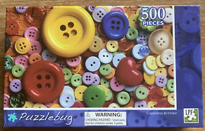 Puzzles: Puzzlebug Jigsaw Puzzle - colourful buttons (500 pieces)