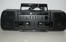 Retro Vtg GE 3-56778 Boom Box AM/FM Cassette Dubbing Dual Tape Ghetto Blaster