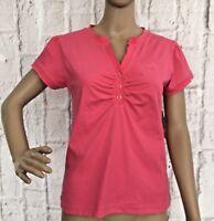 ONeills Sportswear Women's T-Shirt Size 12 Jen Curve Top Pink Short Sleeve NEW