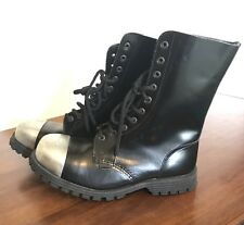 UNDERGROUND COMMANDO BLACK LEATHER SIZE UK 8 EU 42 Dr Martens Boot Shoe