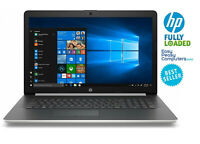 "HP Laptop 17.3"" Windows 10 8GB 1TB DVD+RW Webcam WiFi Bluetooth (FULLY LOADED)"