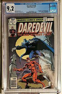 Daredevil #158 CGC 9.2 1st Frank Miller on Daredevil White Pages
