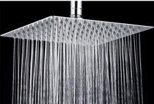 "8"" Bathroom Rain Shower Head Stainless Steel Square Top Spray Adjustable"