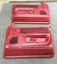 1998-2002 Dodge Ram Power Door Panels OEM From An Extended Cab RED / MAROON