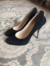 "Jimmy Choo ""Tilly"" Black Suede High Heel Court Shoe Pumps Size 37 / 4"