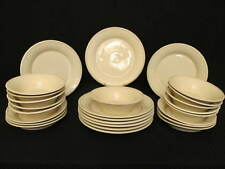 26pc Sonoma Home MENDOCINO OATMEAL Dinner & Salad Plates & Bowls Set for 6 to 11