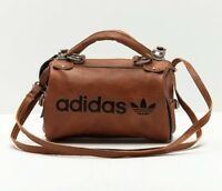 Adidas Original Arch Bag PU Leather Faux Vintage Slingbag Brown Archived Limited