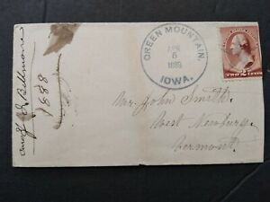 Iowa: Green Mountain 1888 #210 Cover, Fancy Star Cancel
