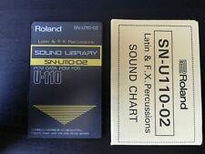 Roland Pcm Sound Card U20 D70 U220 U110-02 Latin And Fx Percussions