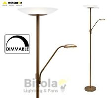 NEW MERCATOR EMILIA LED DIMMABLE FLOOR LAMP MOTHER & CHILD READING - AGED BRASS