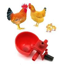 10Pcs Feed Automatic Poultry Water Drinking Cups Bird Coop Chicken Fowl Drinker