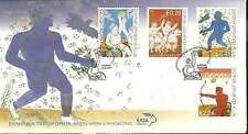 Greece. The power of Will, Archery, Basketball, Greek FDC Olympic Games 2004