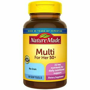 Nature Made Women's Multivitamin 50+ Softgels with Vitamin D, 60 Count