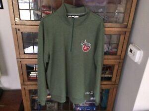 "Fort Wayne Tin Caps ""Pot Head"" 1/4 Zip 47' Brand Green Sweatshirt SZ XL - Cool"