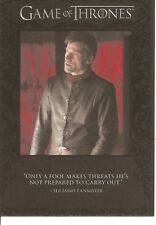 Game of Thrones Season 6 Only a Fool Makes Threats Quotable Insert Card #Q57