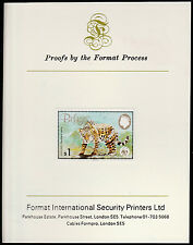 Belize (1306) 1983 WWF - JAGUAR $1 imperf on Format International PROOF  CARD