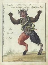 Demon Devil Creature Monster Beast Horror 1766 7x5 Inch Reprint Print