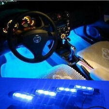 4x 3 LED Azul Neón Bombillas Para Coche Decoración Interior Mechero GB