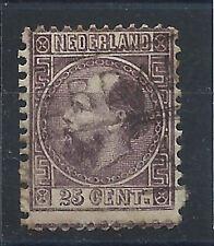 Pays Bas N°11 Obl (FU) 1864 Dentelé 13 1/2 x 14- Guillaume III