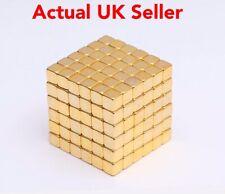 20 Pcs Neodymium Magnets 4mmx4mmx4mm Gold Rare Earth Cube Super Strong Craft