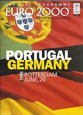 UEFA EM 2000 - EURO 2000 : 20.06.2000 Portugal - Deutschland in Rotterdam