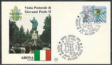 1984 VATICANO VIAGGI DEL PAPA ARONA  - SV