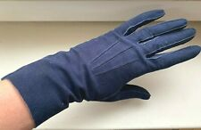 Vintage 1960S Blue Genuine Suede Leather Gloves – Size Approx 7