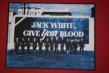 JACK WHITE PRINT THE FORUM LONDON ROB JONES PRINT MEG STRIPES SIGNED O2 BRIXTON