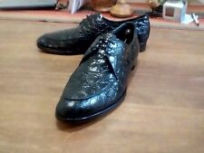 Genuine Alligator Shoes - C1960 Rare - 2 Pair - 1 Black -1 Brown 11C Final Price
