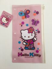 Vintage Sanrio Hello Kitty Binder Vinyl Pencil Pouch Ziplock 9.5x5 In 2005