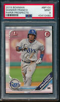 WANDER FRANCO 2019 1st Bowman Paper Prospects Rays Rookie Card RC PSA 9 MINT