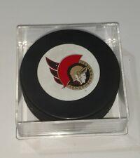 Ottawa Senators NHL Hockey Puck White Circle Logo Game Souvenir
