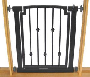 """28""""-34"""" Emperor Indoor Dog & Pet Adjustable Metal Safety Gate - Black"""