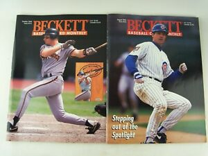 2 Issues 1994 Beckett Baseball Card Monthly Magazine Ryne Sandberg Matt Williams