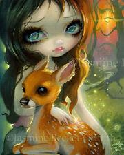 Brother & Sister Jasmine Becket-Griffith CANVAS PRINT deer fairy pop big eye art