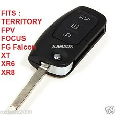 FORD 3 Button Remote & Flip Key FG Falcon XT XR6 XR8 Focus Territory NEW