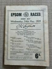 More details for 1939 derby stakes race card: blue peter