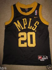 Gary Payton  20 Los Angeles Lakers MPLS Nike Retro Black Jersey Youth S 8  Small 5799c96c7