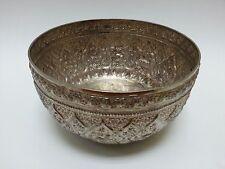 Traditional Songkran Thai Water Festival .900+ Fine Silver Repousse Bowl 365gr