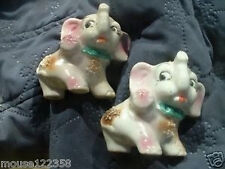 2 Elephant Figurines Vintage Japan figurine