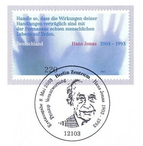 Frg 2003: Hans Jonas No. 2338 Mit Sauberem Berlin First Day Special Cancellation