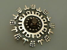 Broche en argent 925 Mexico design à la main vintage brooch