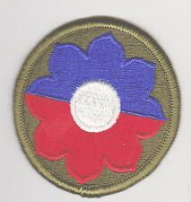 USA US ARMY 9th INFANTRY DIVISION PATCH