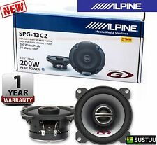 "Alpine SPG-13C2 5""13cm 2-Way 200W Coaxial Car Radio Stereo Audio Speakers NEW"
