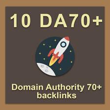 10 Pr9 Da 70 Domain Authority Backlinksseo Service For Website