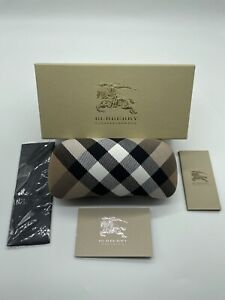 Burberry Sunglasses / Eyeglasses Large Size Hard Cloth Case Original Box