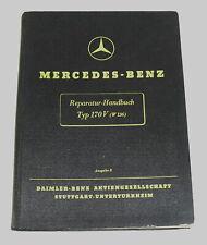 Manuel D'Atelier Mercedes Benz 170 V W136, Original De 1943