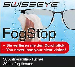 30x Antibeschlag und Reinigungstuch gegen beschlagene Brillen Top-Qualität